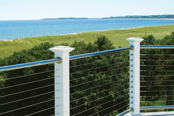 Cable Railing on Oceanfront