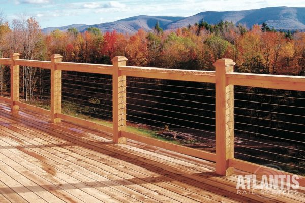 Cable Railing with Fall Trees