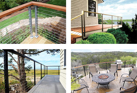 Industrial Style Cable Railing 4 Ways
