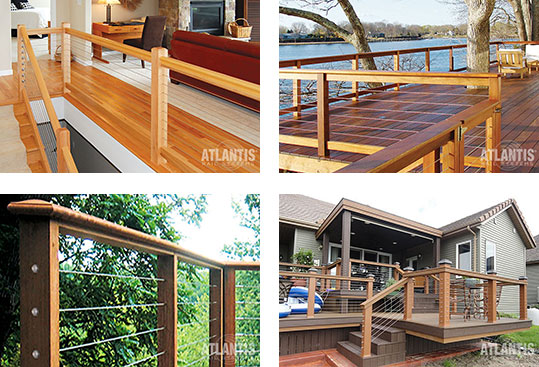 Stainless Cable Railing 4 Ways