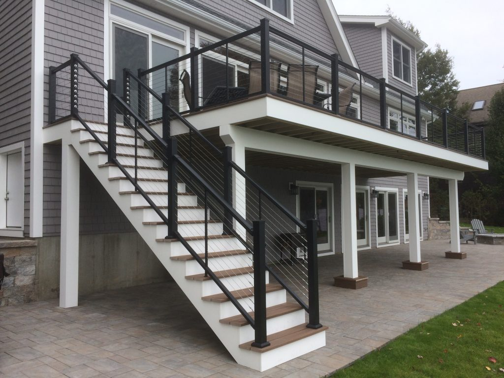 Aluminum Cable Railing System on Residential Stairs