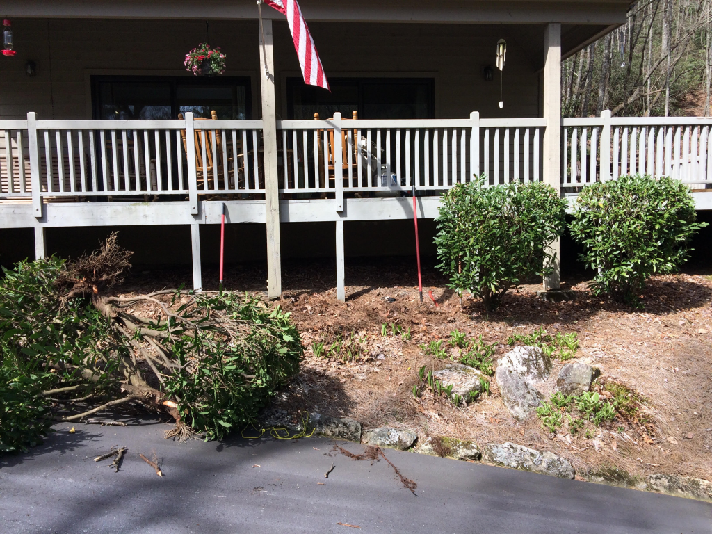 Before Picture of a Cable Railing System in North Carolina