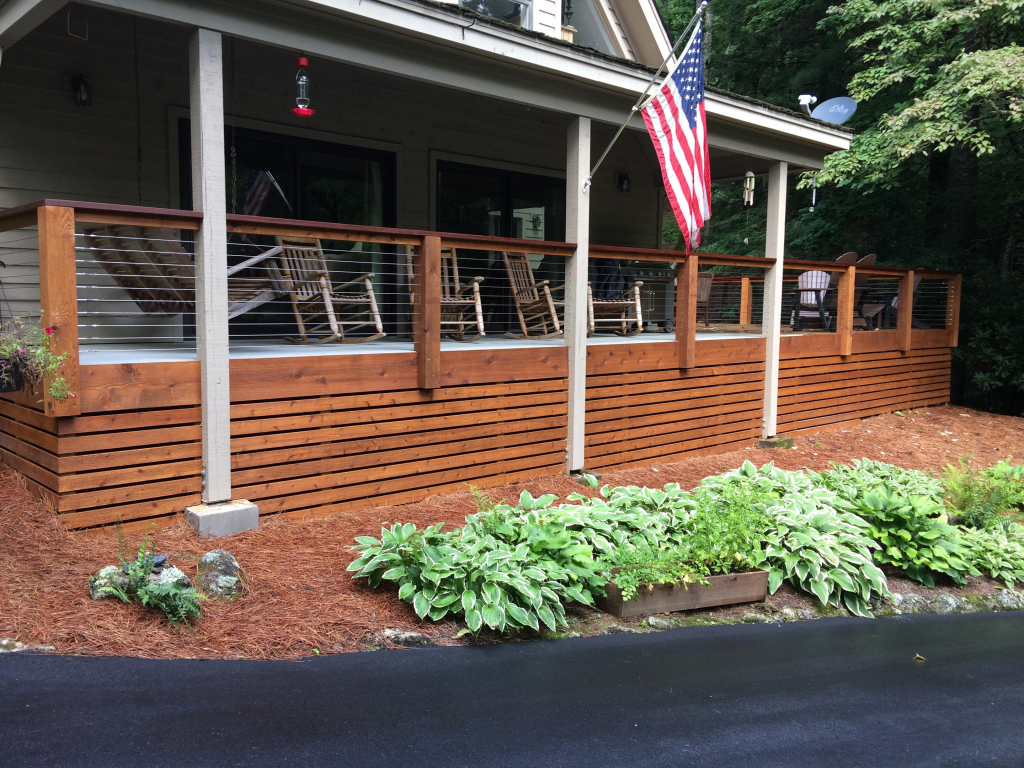 After Picture of a Cable Railing System in North Carolina