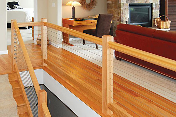 Cable Railing Options for Indoor Staircase