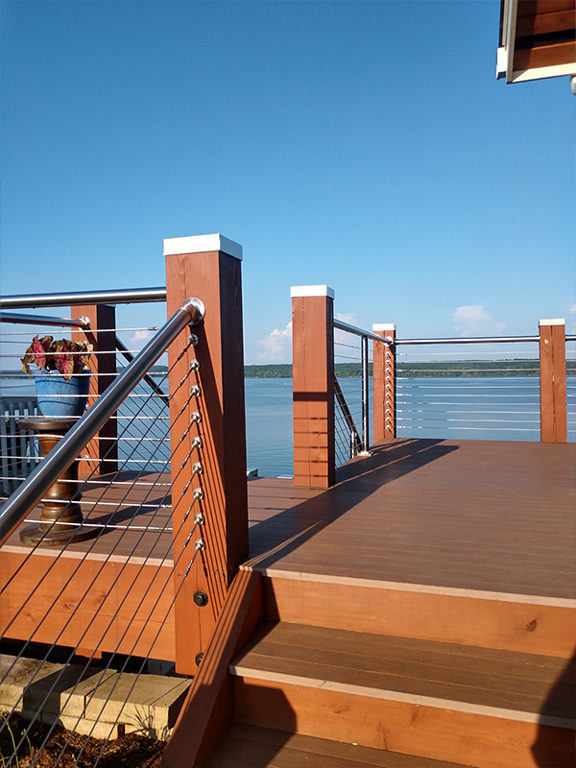 Cable Railing on Deck by Water