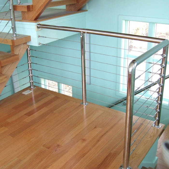 Cable Railing on Staircase Landing