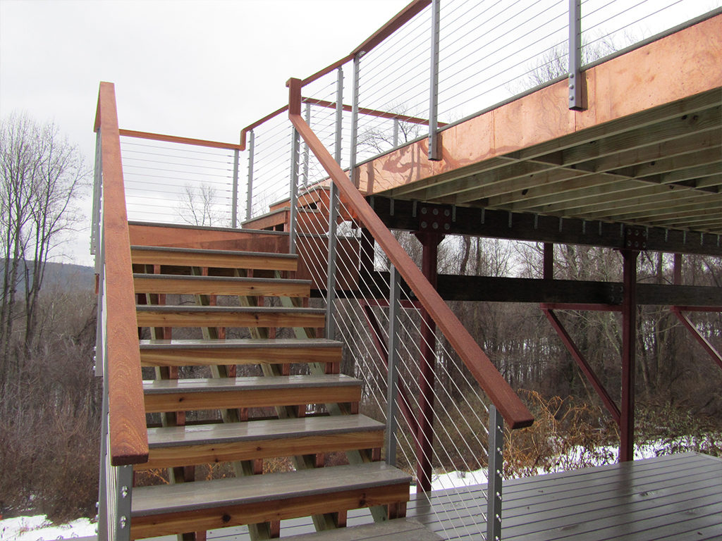 Cable Railing on Stilted Deck