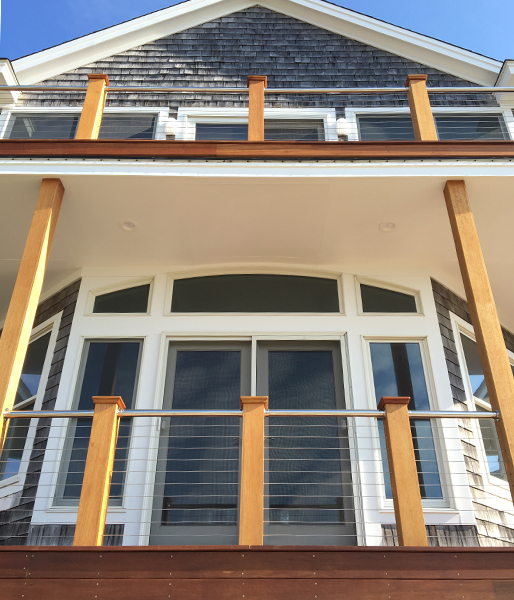 Cable Railing on Two Story Residence
