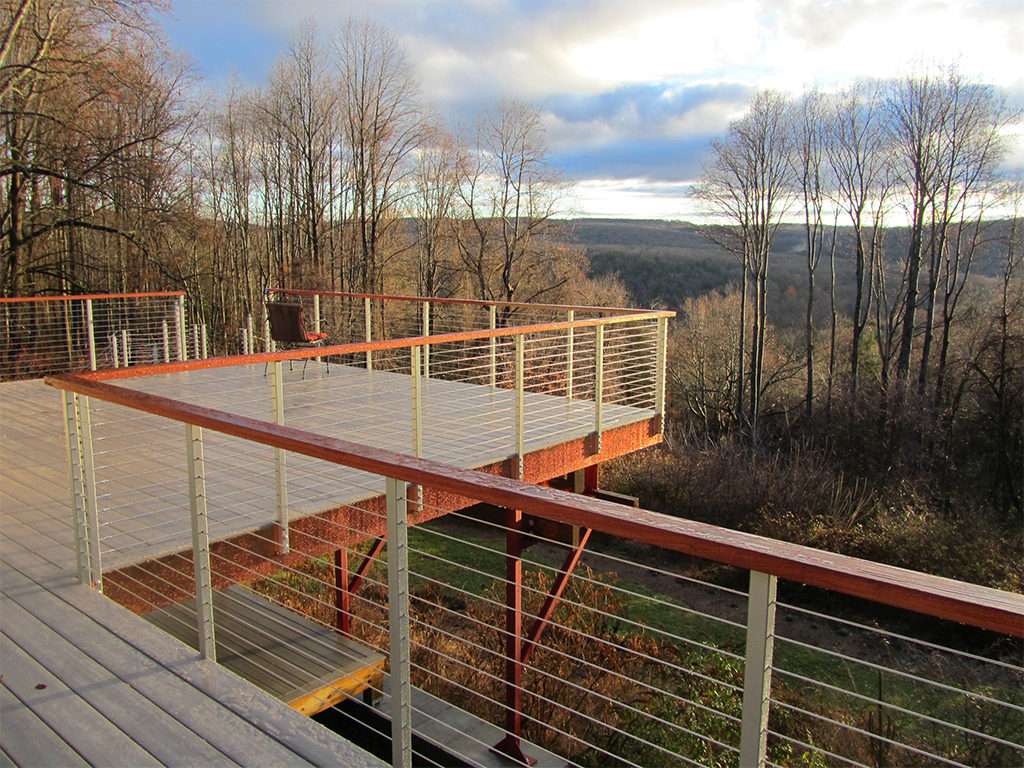 Cable Railing with Thin Posts