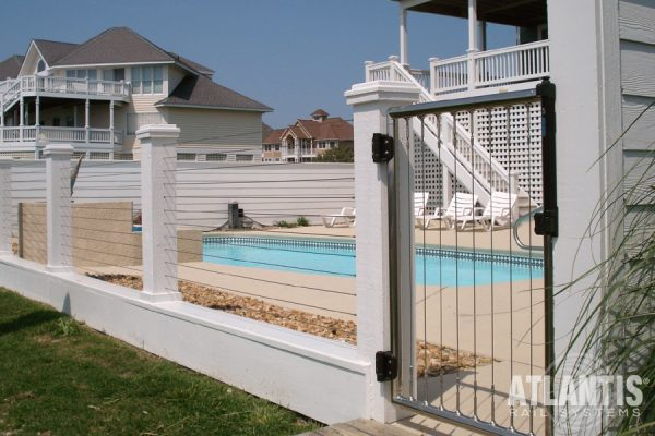 Pool with Stainless Cable Gate