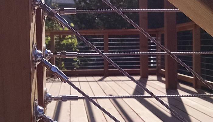 Swage vs. Swageless : Cable railing hardware fittings.