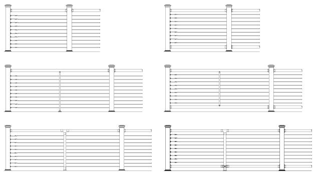 Nautilus Cable Railing Design Configurations