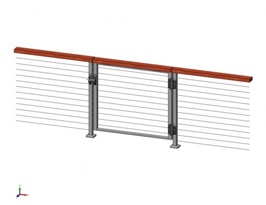 Gate for Spectrum Cable Railing System