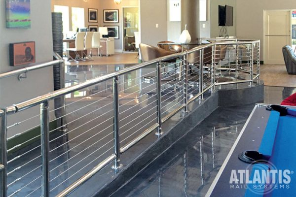 Cable railing accessibility options.